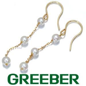 アコヤ真珠 3.2-3.4mm珠 ベビーパール ピアス K18YG GENJ|greeber01