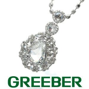 ダイヤ ダイヤモンド 0.10ct/0.08ct ローズカット ネックレス K18WG GENJ greeber01