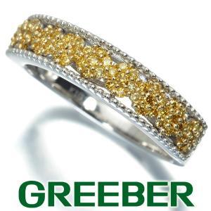 イエローダイヤ ダイヤモンド 0.27ct リング 指輪 K18WG/YG GENJ|greeber01