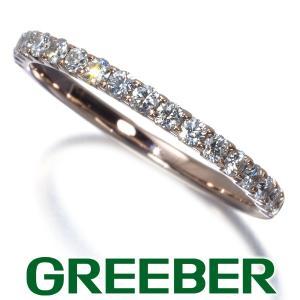 上質ダイヤ ダイヤモンド 0.32ct ハーフエタニティ リング 指輪 K18PG GENJ|greeber01