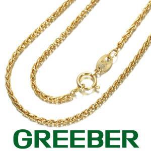 スパイクチェーン ネックレス 40cm K18YG GENJ|greeber01