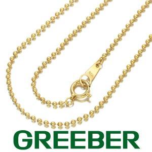 ボールチェーン ネックレス 40cm K18YG GENJ|greeber01