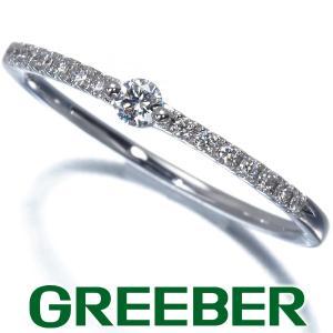 スタージュエリー リング 指輪 ダイヤ ダイヤモンド 0.10ct ハーフエタニティ 11号 K18WG BLJ/GENJ|greeber01