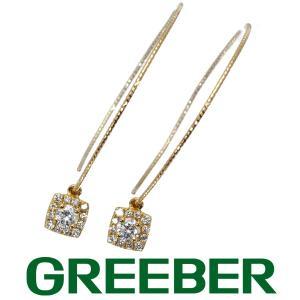 ダイヤ ダイヤモンド 0.073ct/0.073ct/0.121ct/0.127ct フープ ピアス K18YG GENJ|greeber01