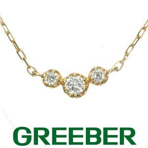 4℃ ネックレス ダイヤ ダイヤモンド 3P K18YG BLJ/GENJ|greeber01