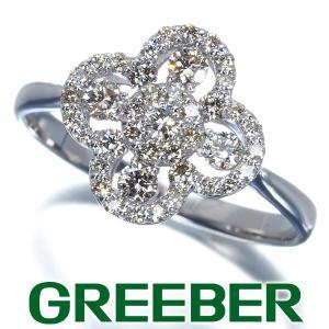 ダイヤ ダイヤモンド 0.50ct フラワー リング 指輪 K18WG GENJ|greeber01