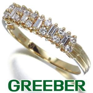 ダイヤ ダイヤモンド 2種カット リング 指輪 K18YG GENJ|greeber01