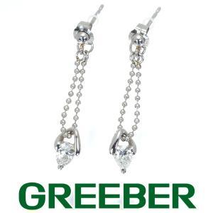 ダイヤ ダイヤモンド 0.178ct 0.190ct ペアシェイプ ピアス Pt900/プラチナ GENJ|greeber01