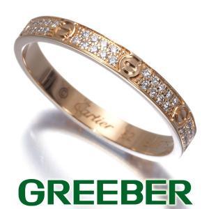 カルティエ リング 指輪 ダイヤ ダイヤモンド ミニラブ SM パヴェ 52号 K18PG BLJ 大幅値下げ品|greeber01