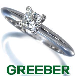 ティファニー リング 指輪 ダイヤ ダイヤモンド 0.34ct ソリティア プリンセスカット 11号 Pt950/プラチナ BLJ 大幅値下げ品|greeber01