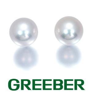 TASAKI タサキ ピアス アコヤ真珠 パール 7.2mm珠 K18WG BLJ 大幅値下げ品|greeber01