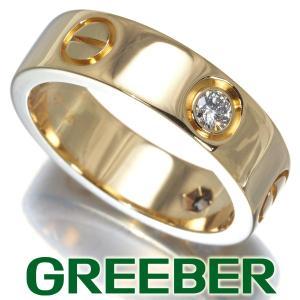 カルティエ ラブリング 指輪 ダイヤ ダイヤモンド ハーフ 51号 K18YG BLJ 大幅値下げ品|greeber01
