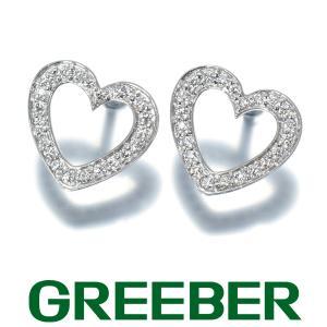 ティファニー ピアス ダイヤ ダイヤモンド メトロハート K18WG BLJ|greeber01