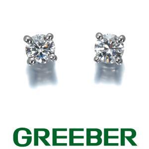 ティファニー ピアス ダイヤ ダイヤモンド 0.12ct/0.12ct程 ソリティア Pt950/プラチナ/Pt900/プラチナ BLJ|greeber01