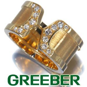 カルティエ リング 指輪 ダイヤ ダイヤモンド 2C ドゥーブルC C2 LM 51号 K18YG BLJ|greeber01