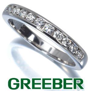 ティファニー リング 指輪 ダイヤ ダイヤモンド チャネルセッティング 3mm ハーフエタニティ 12.5号 Pt950/プラチナ BLJ 大幅値下げ品|greeber01