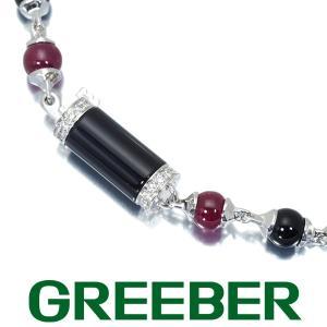 カルティエ ブレスレット ダイヤ ダイヤモンド ルビー オニキス ルベゼデュドラゴン K18WG 保証書 BLJ 大幅値下げ品|greeber01