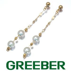 アコヤ真珠 パール 5.0mm ピアス K18YG GENJ 大幅値下げ品|greeber01