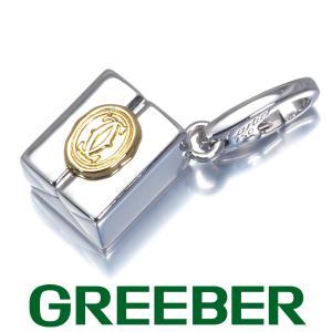 カルティエ ペンダントトップ ギフトボックス チャーム K18WG/YG BLJ|greeber01