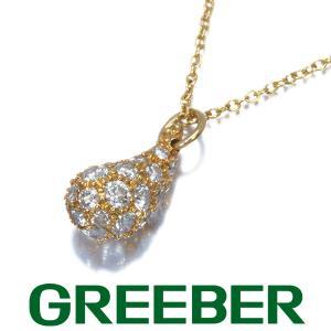 ティファニー ネックレス ダイヤ ダイヤモンド ティアドロップ K18YG BLJ|greeber01