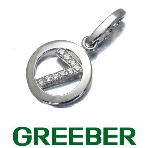 カルティエ ペンダントトップ ダイヤ ダイヤモンド ナンバー7 チャーム K18WG BLJ|greeber01
