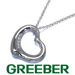 ティファニー ネックレス ダイヤ ダイヤモンド オープンハート Pt950/プラチナ BLJ|greeber01