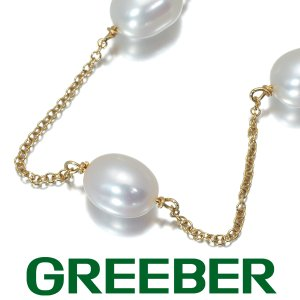 ティファニー ブレスレット 淡水真珠 パール ステーション  6.2mm K18YG BLJ|greeber01