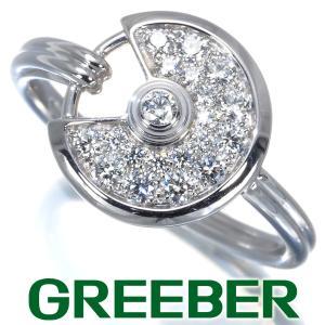 カルティエ リング 指輪 ダイヤ ダイヤモンド アミュレット XS ドゥ カルティエ パヴェ 53号 K18WG BLJ|greeber01