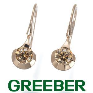 カシケイ ピアス ダイヤ ダイヤモンド 0.60ct ドッツ K18PG BLJ|greeber01