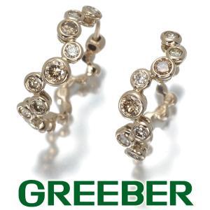 カシケイ ピアス ダイヤ ダイヤモンド 0.80ct ベゼル フープ K18BG BLJ|greeber01