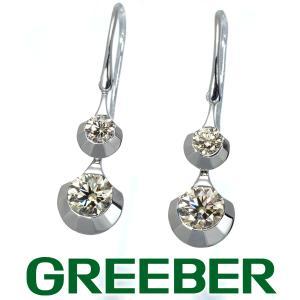 カシケイ ピアス ダイヤ ダイヤモンド 0.80ct ドッツ K18WG BLJ|greeber01