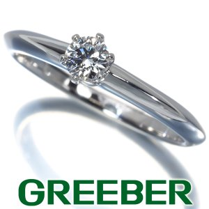 ティファニー リング 指輪 ダイヤ ダイヤモンド 0.18ct ソリティア 10.5号 Pt950/プラチナ BLJ|greeber01