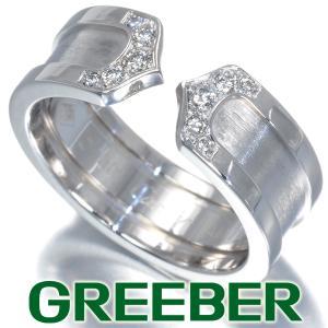 カルティエ リング 指輪 ダイヤ ダイヤモンド C2 2C ドゥーブルC 50号 K18WG BLJ|greeber01