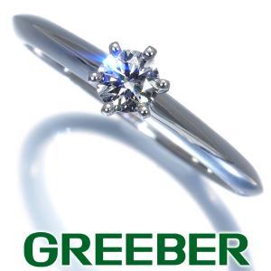 ティファニー リング 指輪 ダイヤ ダイヤモンド 0.21ct I VS1 3EX ソリティア 10号 Pt950/プラチナ 鑑定書 BLJ|greeber01