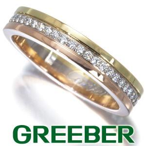 カルティエ リング 指輪 ダイヤ ダイヤモンド スリーカラー ダイヤ ダイヤモンド フルエタニティ 49号 K18YG/WG/PG 保証書 BLJ|greeber01