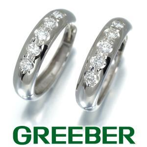 ダイヤ ダイヤモンド 0.5ct程 フープ ピアス Pt900/プラチナ GENJ|greeber01