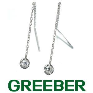 ダイヤ ダイヤモンド 0.16ct アメリカン ピアス K18WG GENJ|greeber01