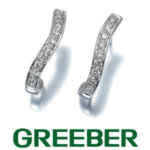 ダイヤ ダイヤモンド 0.15ct/0.15ct ピアス K18WG GENJ|greeber01