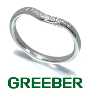 ティファニー リング 指輪 ダイヤ ダイヤモンド カーブドバンド 9号 Pt950/プラチナ BLJ|greeber01