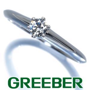 ティファニー リング 指輪 ダイヤ ダイヤモンド 0.15ct程 ソリティア 10号 Pt950/プラチナ BLJ|greeber01