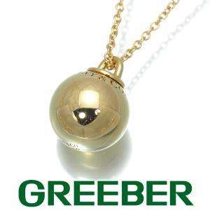 ティファニー ネックレス ハードウェア ボール 12.5mm ミディアム K18YG BLJ|greeber01