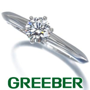 ティファニー リング 指輪 ダイヤ ダイヤモンド 0.36ct ソリティア 9号 Pt950/プラチナ BLJ|greeber01