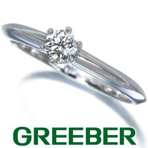 ティファニー リング 指輪 ダイヤ ダイヤモンド 0.18ct ソリティア 9号 Pt950/プラチナ BLJ|greeber01