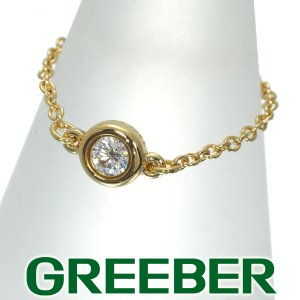 ティファニー リング 指輪 ダイヤ ダイヤモンド バイザヤード 6号 K18YG BLJ|greeber01