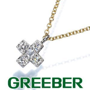 ティファニー ネックレス ダイヤ ダイヤモンド クルーシフォーム クロス Pt950/プラチナ/K18YG BLJ|greeber01