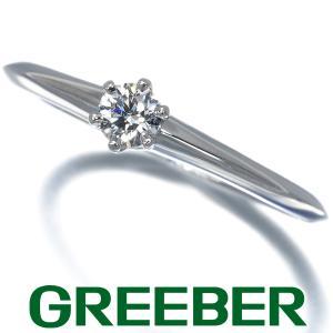 ティファニー リング 指輪 ダイヤ ダイヤモンド 0.18ct D VVS1 3EX ソリティア 15号 Pt950/プラチナ 鑑定書 BLJ|greeber01