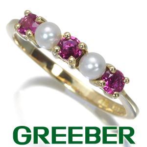 ティファニー リング 指輪 ルビー 淡水真珠 パール 11号 K18YG BLJ|greeber01