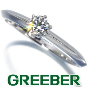 ティファニー リング 指輪 ダイヤ ダイヤモンド 0.23ct ソリティア 11.5号 Pt950/プラチナ BLJ|greeber01