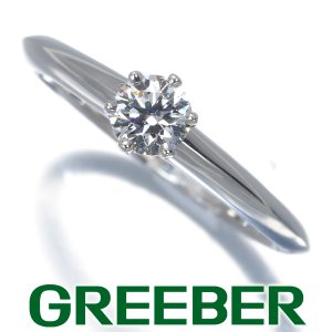 ティファニー リング 指輪 ダイヤ ダイヤモンド 0.26ct ソリティア 9号 Pt950/プラチナ BLJ|greeber01