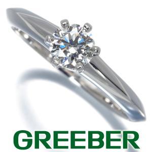 ティファニー リング 指輪 ダイヤ ダイヤモンド 0.40ct H VVS2 EX ソリティア 11.5号 Pt950/プラチナ 鑑定書 BLJ|greeber01